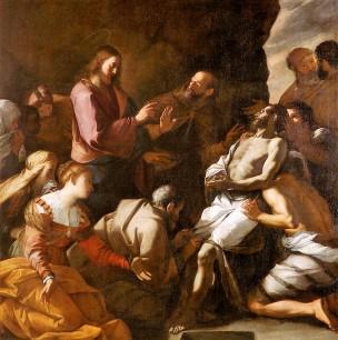 Preti 1646 ca La resurrection de Lazare palazzo rosso genes