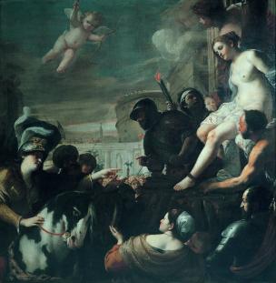 Preti 1646 clorinda libera olindo e sofronia dal rogo palazzo rosso genes