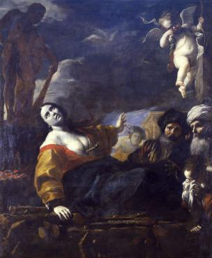 Preti 1651-1661 La Mort de Didon Musee de Chambery