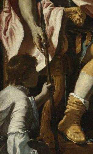 Preti 1668 ca David jouant de la harpe devant saul coll priv detail