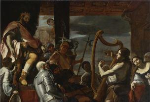 Preti 1668 ca David jouant de la harpe devant saul coll priv