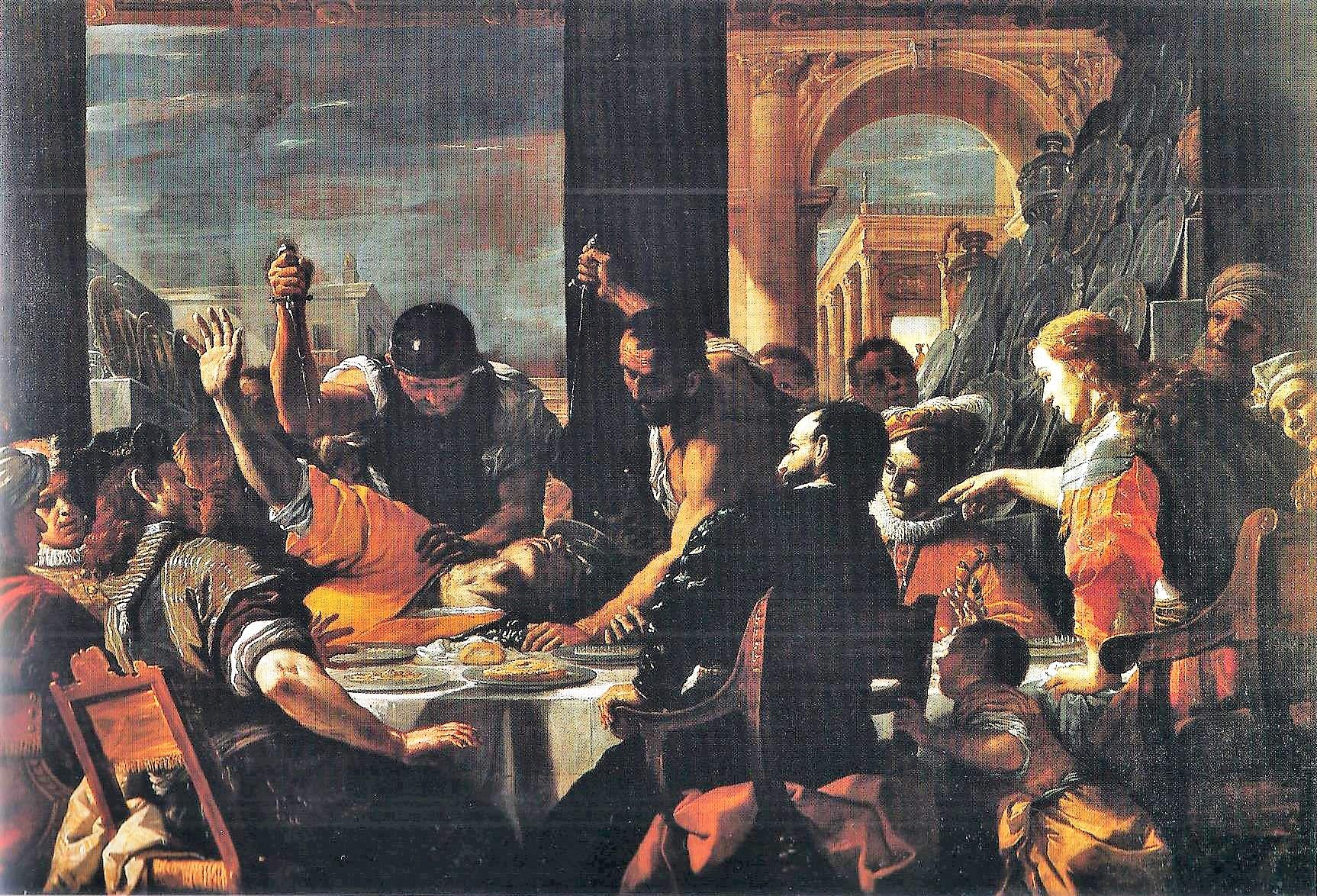 Preti 1668 ca Festin d'Absalon Capodimonte