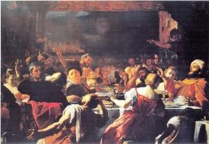 Preti 1668 ca Festin de Balthazar Capodimonte WGA18380