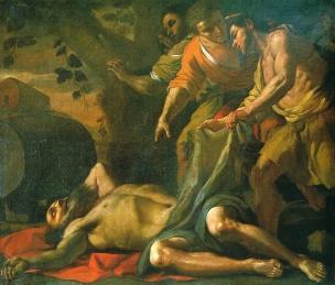 Preti 1680 ca A1 L'ivresse de Noe National Museum of Fine Arts La Valette