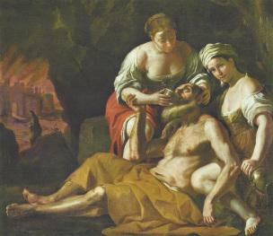 Preti 1680 ca A1 Loth et ses filles National Museum of Fine Arts La Valette