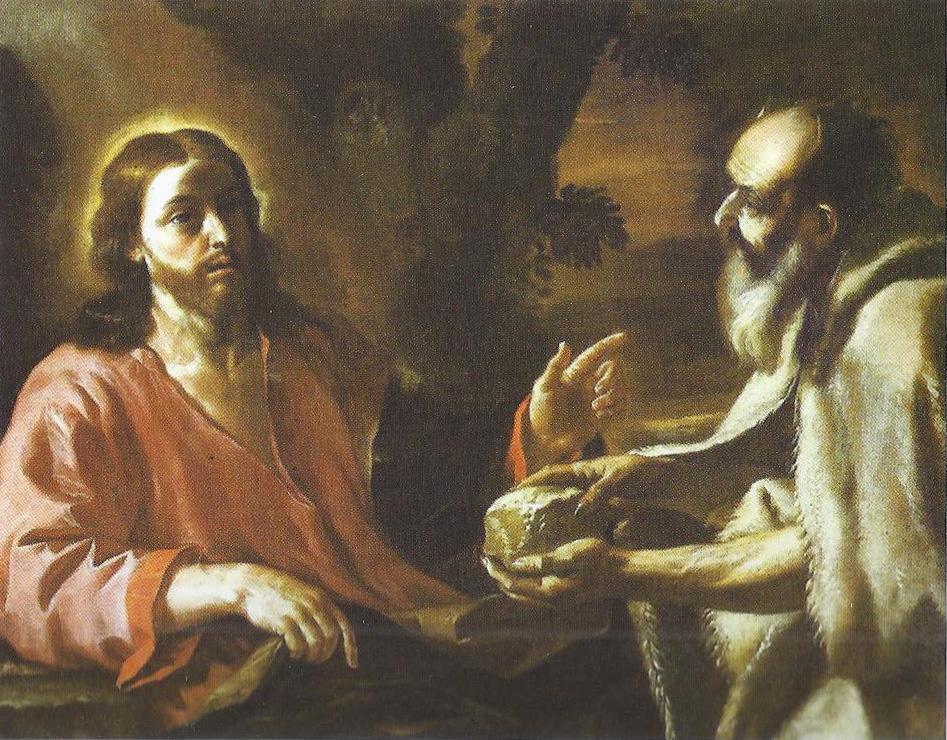 Preti 1680 ca Christ tente par le demon Palazzo Spada Roma