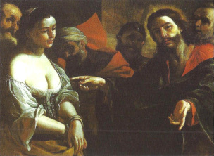 Preti 1680 ca Cristo e adultera Palazzo Spada Roma