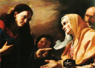 Preti Cristo e la Cananea Palazzo Abatellis Palerme