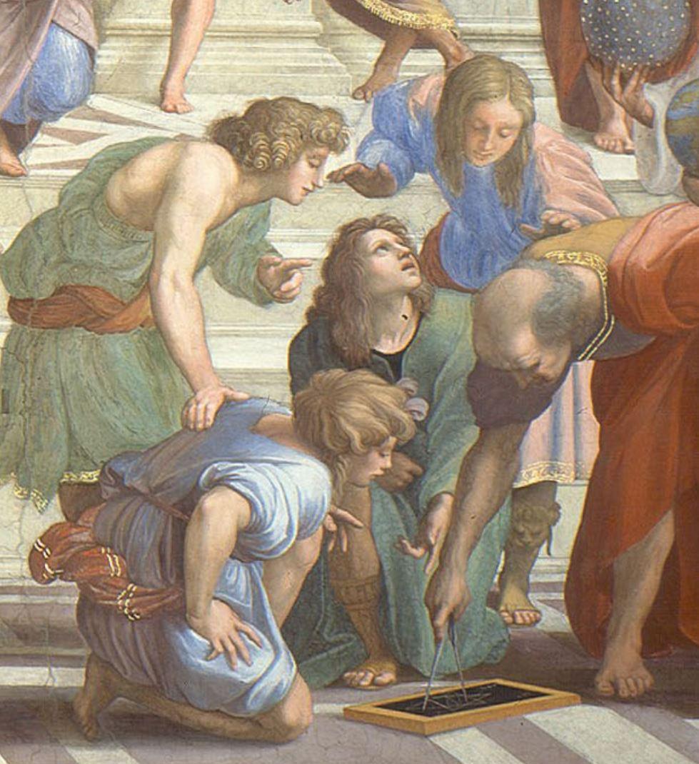 Rapahel Ecole d'Athenes Archimede ou Euclide (detail)