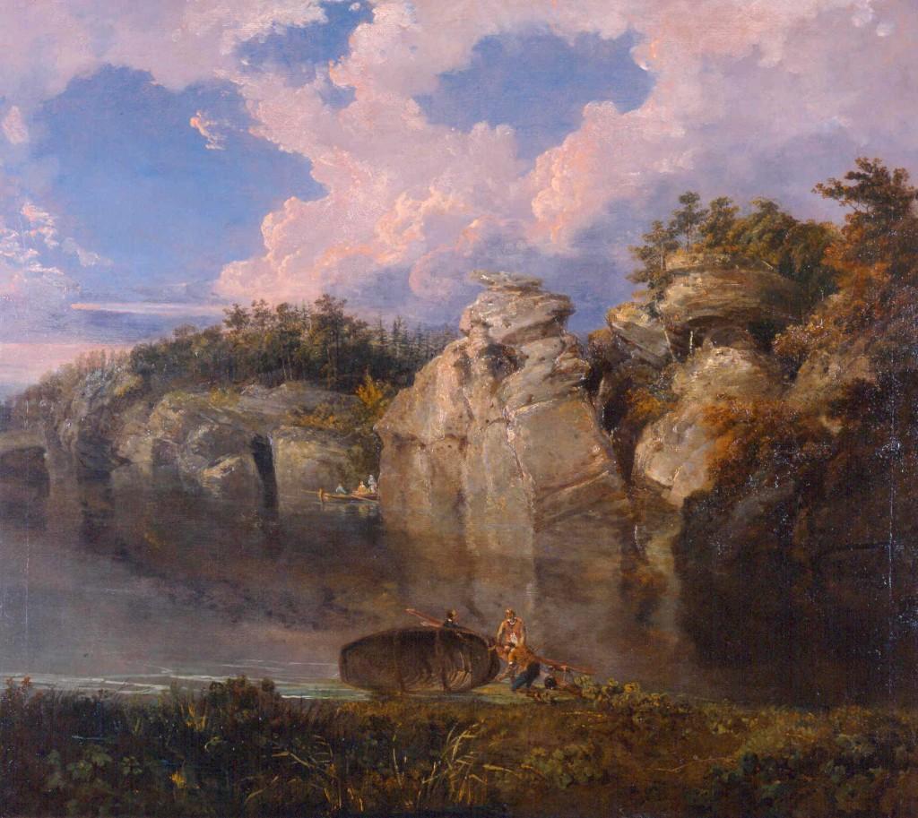 Turner 1797 Vue de Plumbton Rocks Harewood B