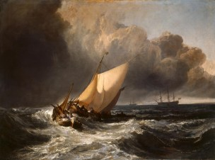 Turner 1801 Dutch Boats in a Gale (The Bridgewater Sea Piece)