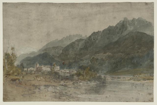 Bonneville and the River Arve from the Geneva Road, Looking East 1802 by Joseph Mallord William Turner 1775-1851