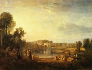 Turner 1808 Popes Villa At Twickenham coll priv