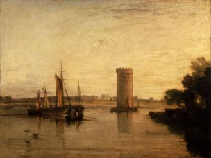 Turner 1809 Tabley, Cheshire, the Seat of Sir J.F. Leicester, Bart. Calm Morning Tate Gallery