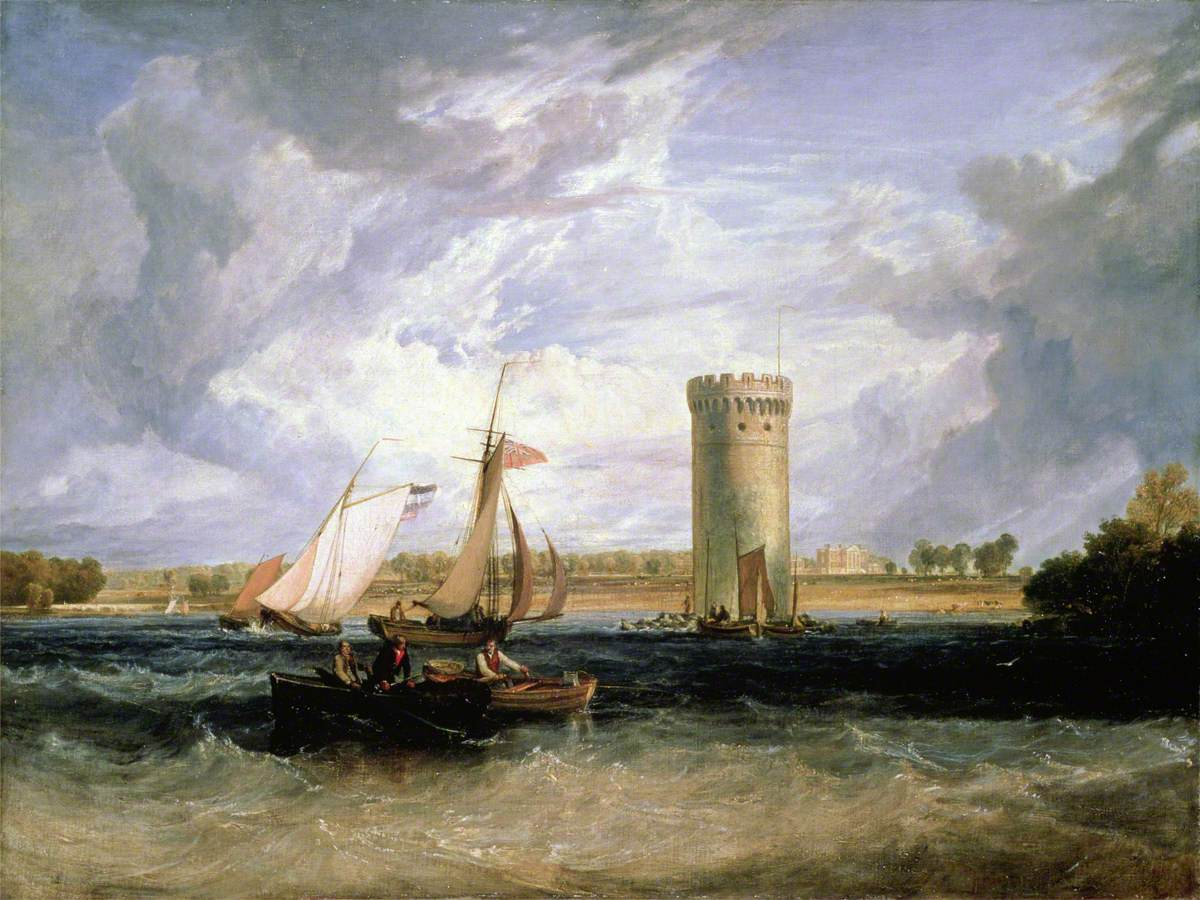 Turner, Joseph Mallord William, 1775-1851; Tabley, Cheshire, the Seat of Sir J. F. Leicester, Bt: Windy Day