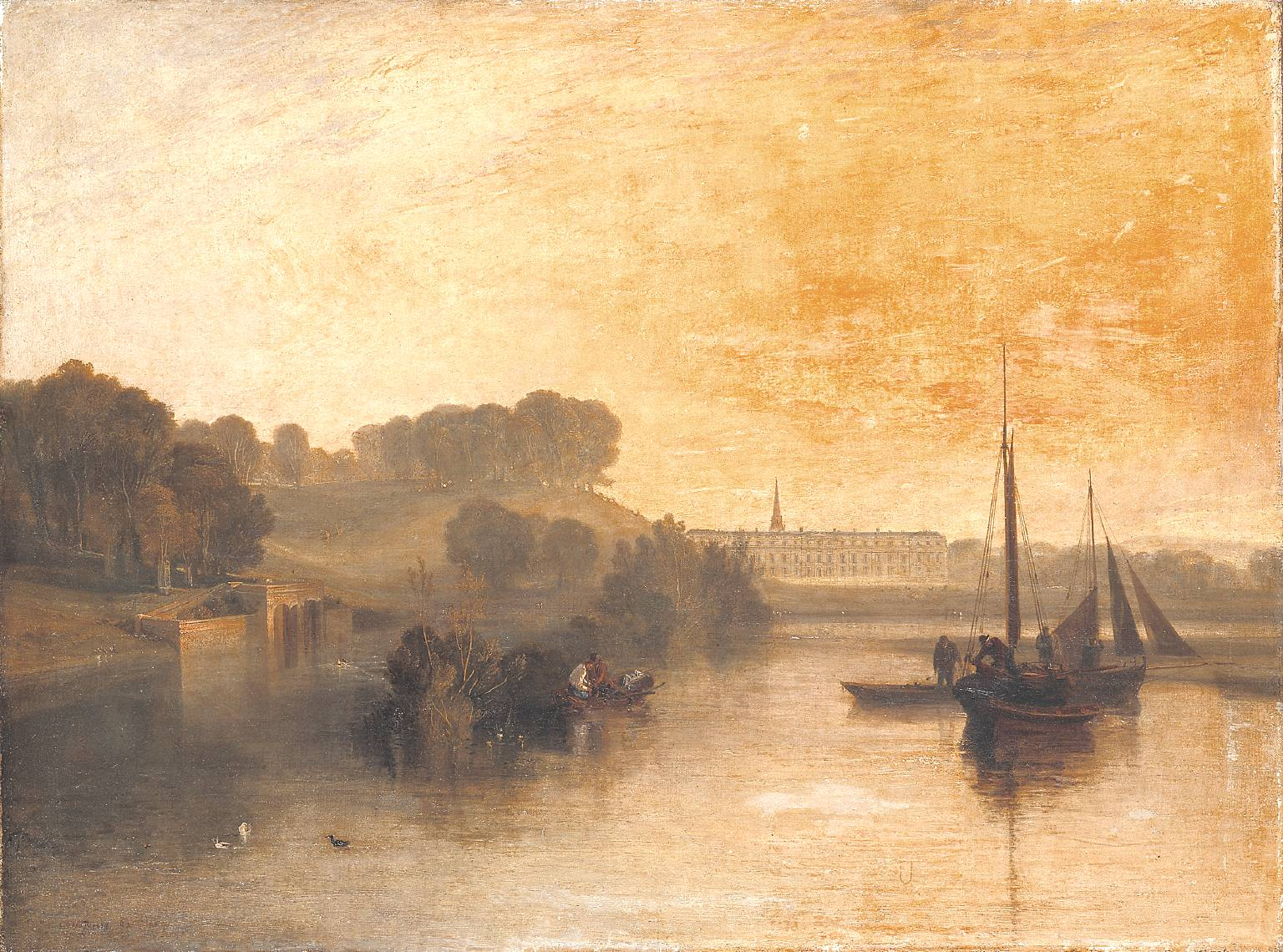 Petworth, Sussex, the Seat of the Earl of Egremont: Dewy Morning exhibited 1810 by Joseph Mallord William Turner 1775-1851