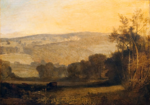 Turner 1810 Lowther Castle - Evening ,Bowes Museum, Barnard Castle