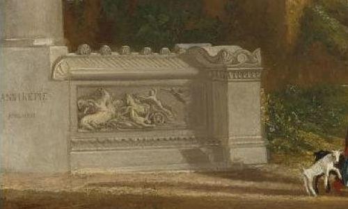 Turner 1816 Le temple de Jupiter pannellenius reconstitue coll privee detail