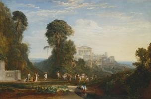 Turner 1816 Le temple de Jupiter pannellenius reconstitue coll privee