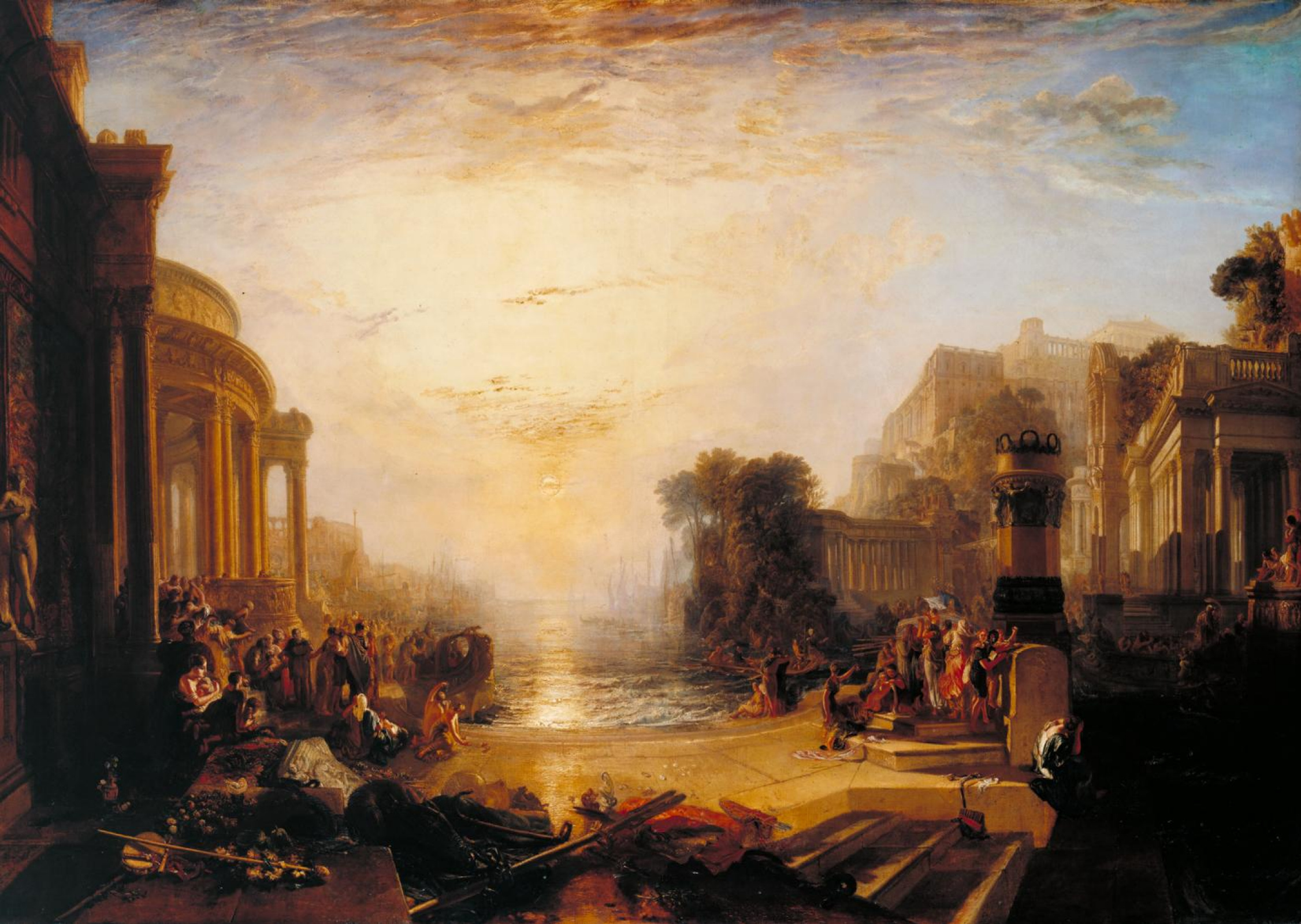 Turner 1817 Le declin de l'Empire carthaginois Tate Gallery