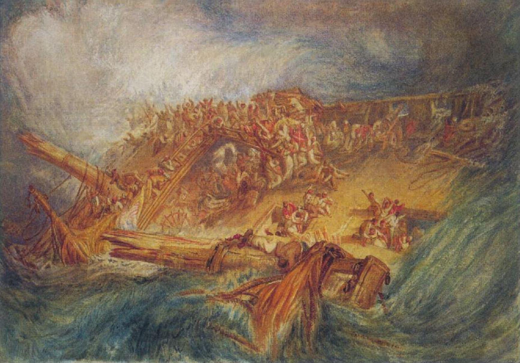 Turner 1818 Perte d'un Indiaman Cecil Higgins Art Gallery Bedford