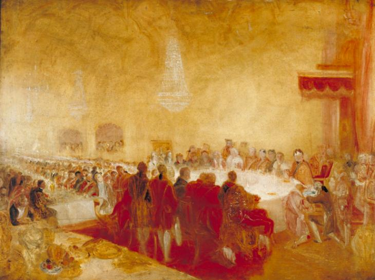 George IV at the Provost's Banquet in the Parliament House, Edinburgh c.1822 by Joseph Mallord William Turner 1775-1851