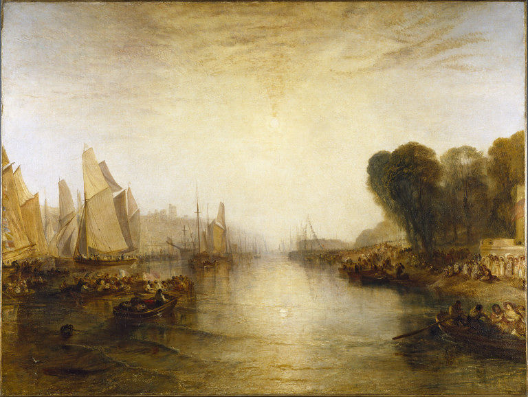 Turner 1827-28 East Cowes Castle Victoria and Albert Museum