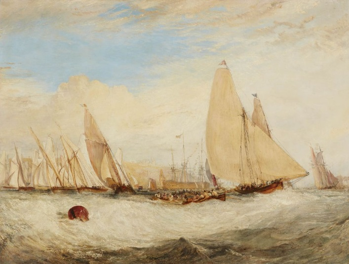 Turner 1827-28 East Cowes Castle, the Seat of J. Nash, Esq., the Regatta Beating to Windward Indianapolis Museum of Arts
