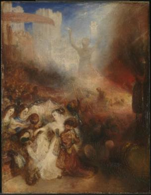 Shadrach, Meshach and Abednego in the Burning Fiery Furnace exhibited 1832 by Joseph Mallord William Turner 1775-1851