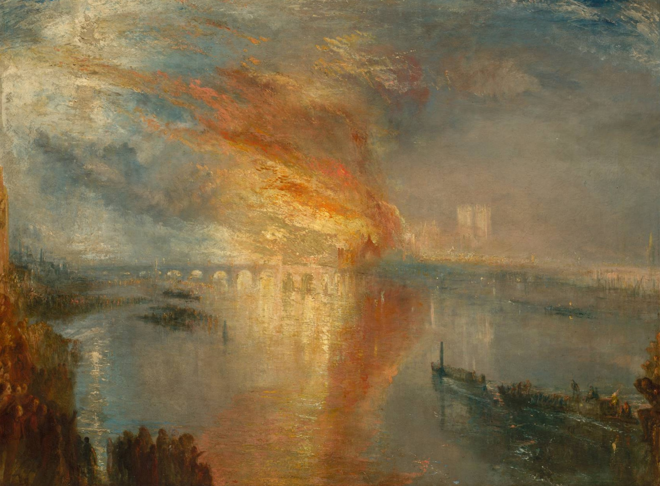 Turner 1835 The Burning of the Houses of Lords and Commons, October 16, 1834 Cleveland Museum of Arts
