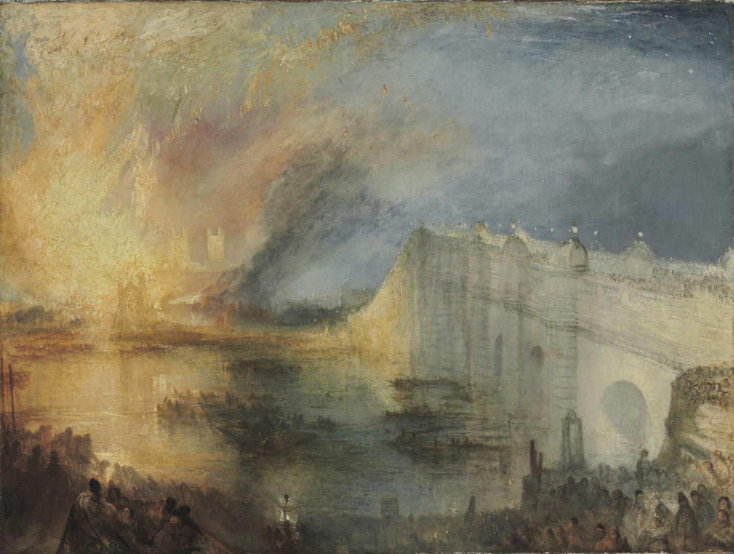 Turner 1835 The Burning of the Houses of Lords and Commons, October 16, 1834 Philadelphia Museum of Arts