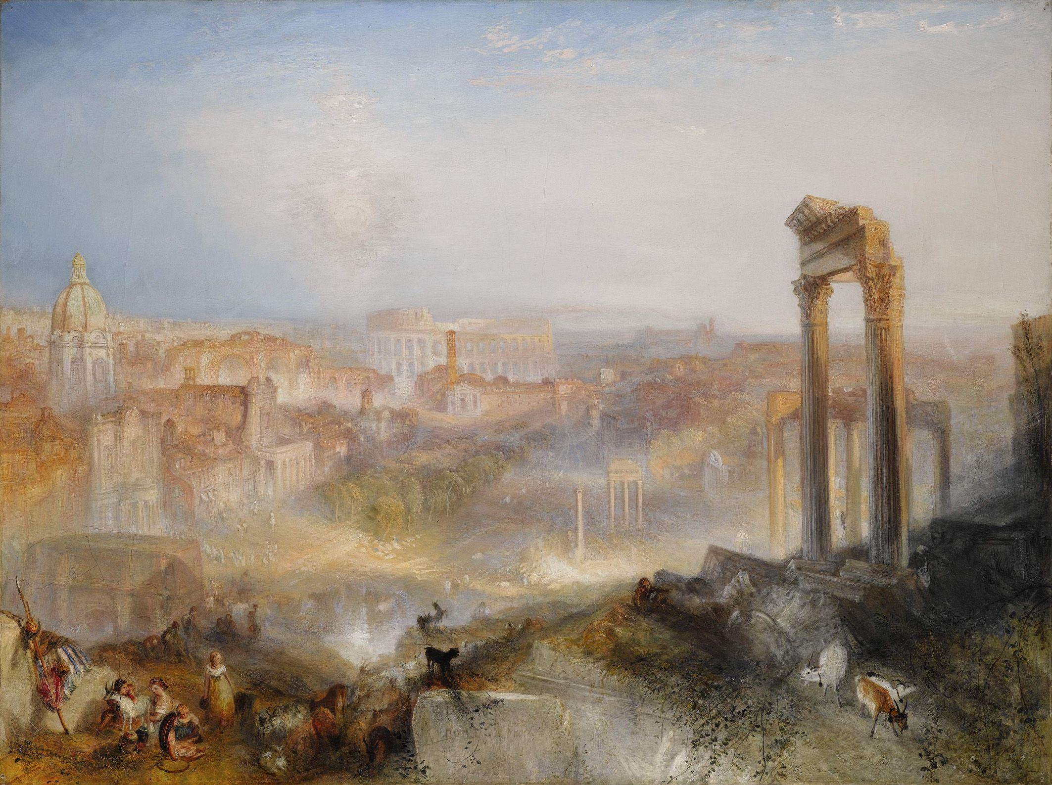 Turner 1839 MODERN ROME - CAMPO VACCINO coll privee