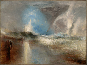 Turner 1840 ROCKETS AND BLUE LIGHTS (CLOSE AT HAND) TO WARN STEAMBOATS OF SHOAL WATER Clark Art Institute Williamstown