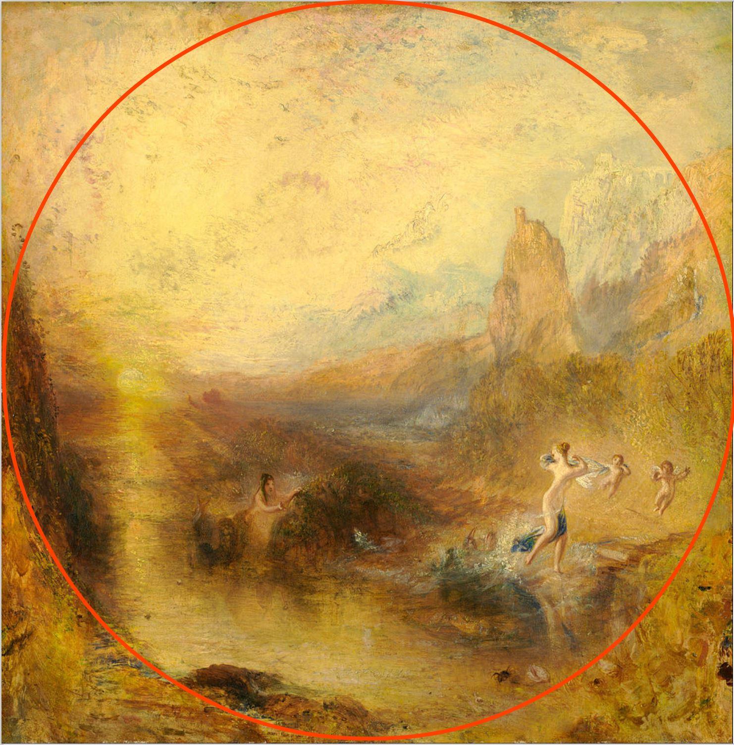 Turner 1841 Glaucus_and_Scylla Kimbell art Museum