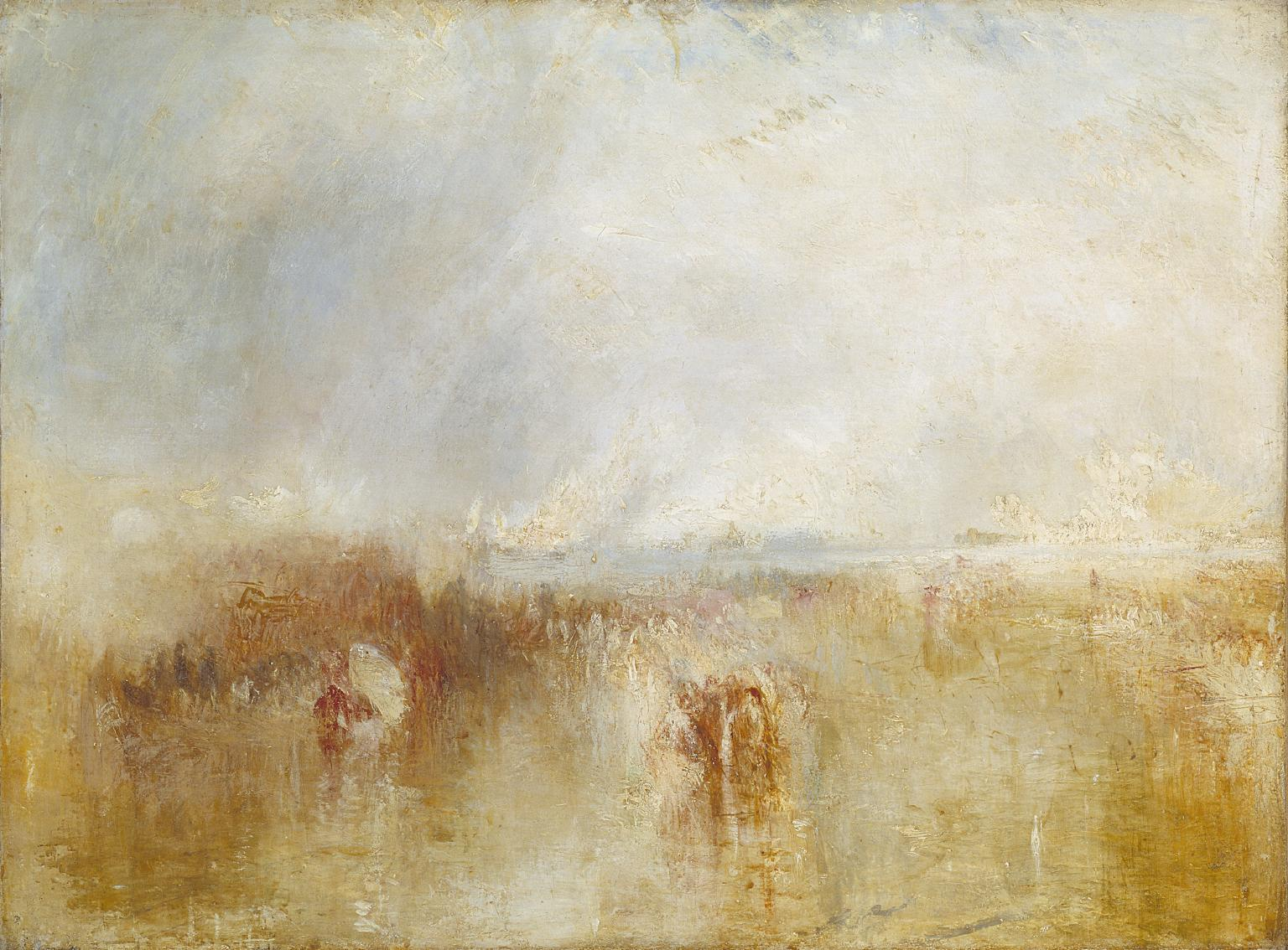 The Arrival of Louis-Philippe at the Royal Clarence Yard, Gosport, 8 October 1844 c.1844-5 by Joseph Mallord William Turner 1775-1851