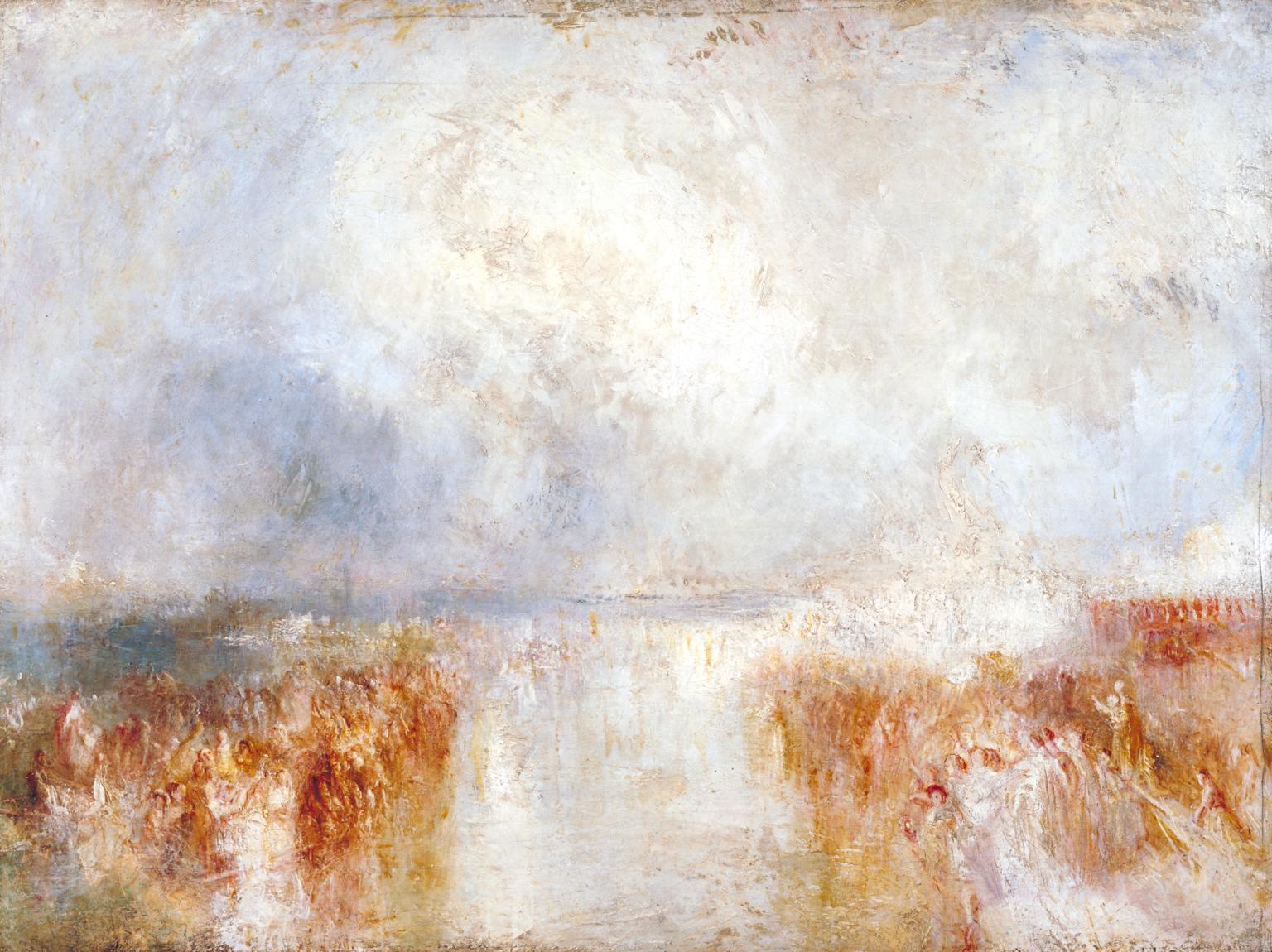 The Disembarkation of Louis-Philippe at the Royal Clarence Yard, Gosport, 8 October 1844 c.1844-5 by Joseph Mallord William Turner 1775-1851
