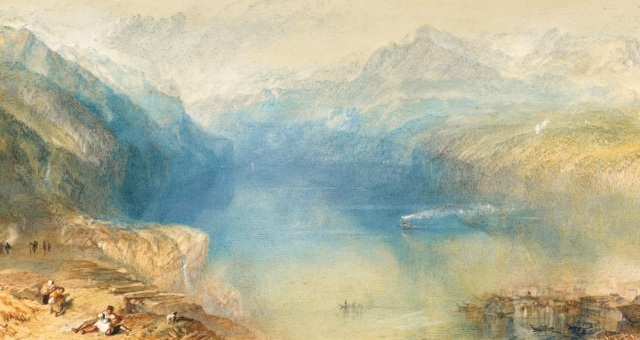Turner 1844 Lake Lucerne the Bay of Uri from above Brunnen coll priv