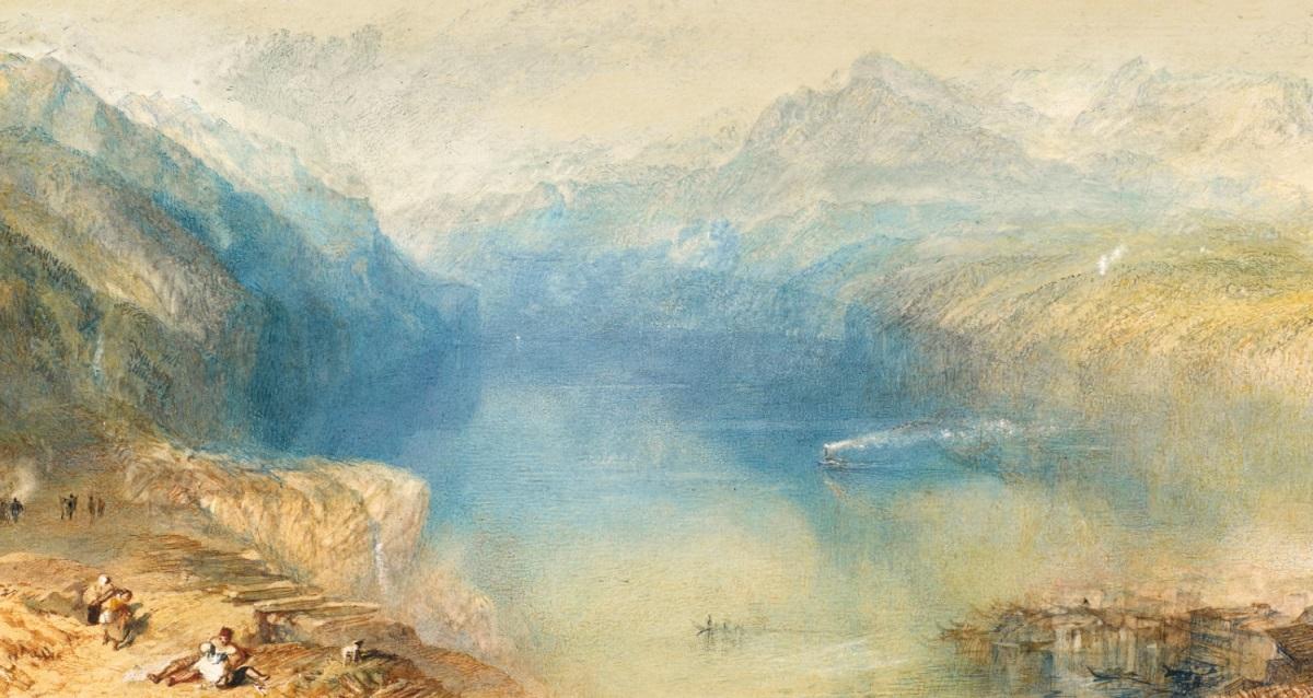 Turner 1844 Lake Lucerne the Bay of Uri from above Brunnen coll priv