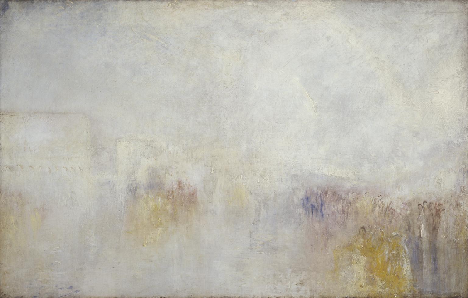 Riva degli Schiavone, Venice: Water F?te c.1845 by Joseph Mallord William Turner 1775-1851