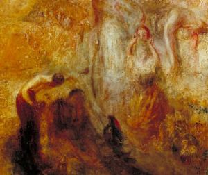 Turner 1846 The Angel standing in the Sun Tate Gallery detail droite