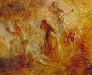 Turner 1846 The Angel standing in the Sun Tate Gallery detail gauche