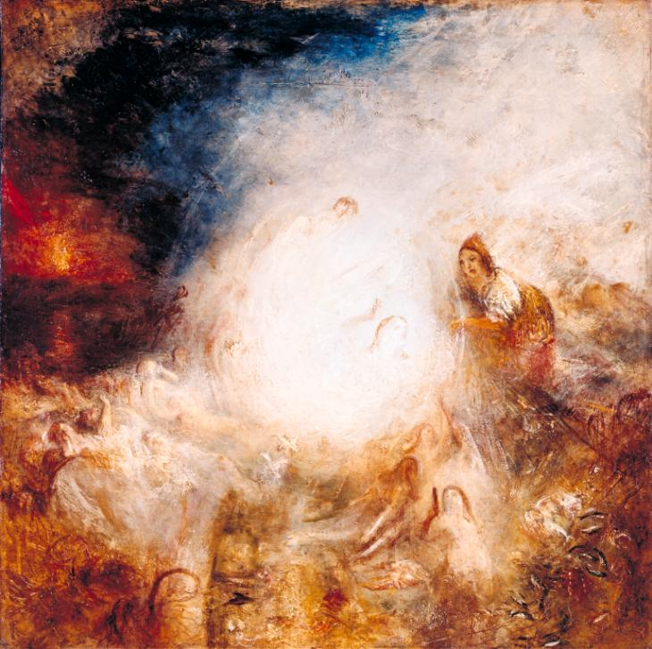 Undine Giving the Ring to Massaniello, Fisherman of Naples exhibited 1846 by Joseph Mallord William Turner 1775-1851