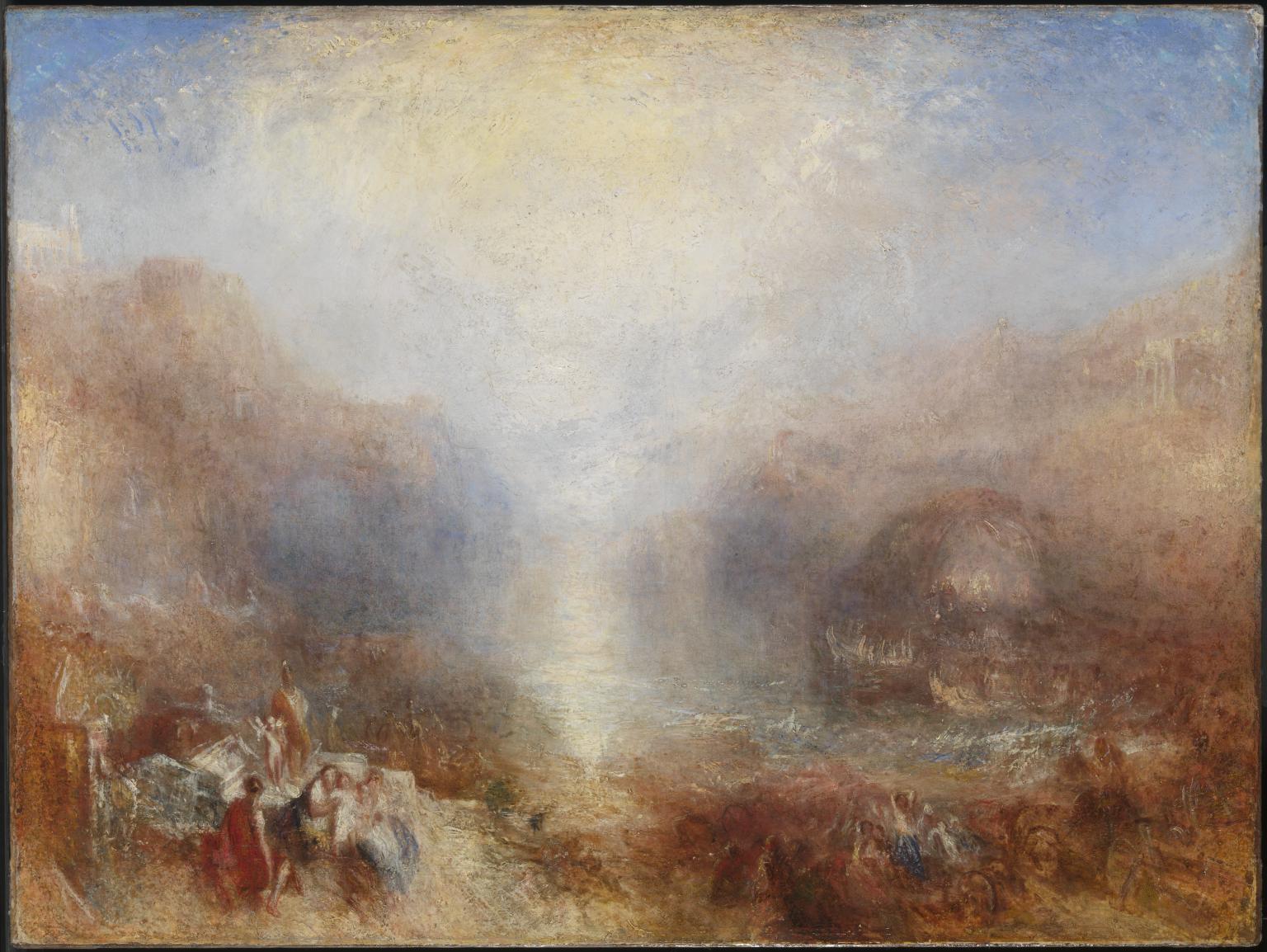 Mercury Sent to Admonish Aeneas exhibited 1850 by Joseph Mallord William Turner 1775-1851