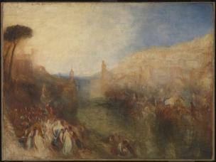 The Departure of the Fleet exhibited 1850 by Joseph Mallord William Turner 1775-1851