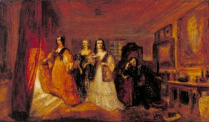 Lucy, Countess of Carlisle, and Dorothy Percy's Visit to their Father Lord Percy, when under Attainder ... exhibited 1831 by Joseph Mallord William Turner 1775-1851