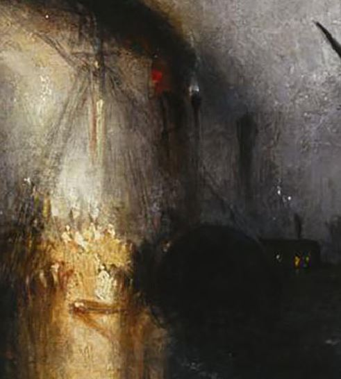 Turner Peace - Burial at Sea 1842 detail
