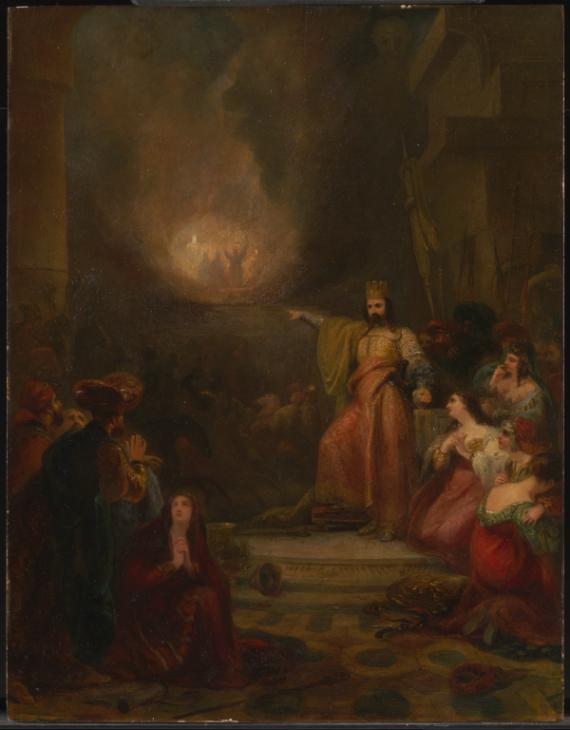 The Burning Fiery Furnace exhibited 1832 by George Jones 1786-1869
