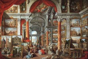 pannini V1b 1758 galerie-de-peinture-avec-vues-de-la-rome-moderne-MET Boston