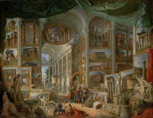 pannini V2a 1758 galerie-de-peinture-avec-vues-de-la-rome-antique-MET New York.