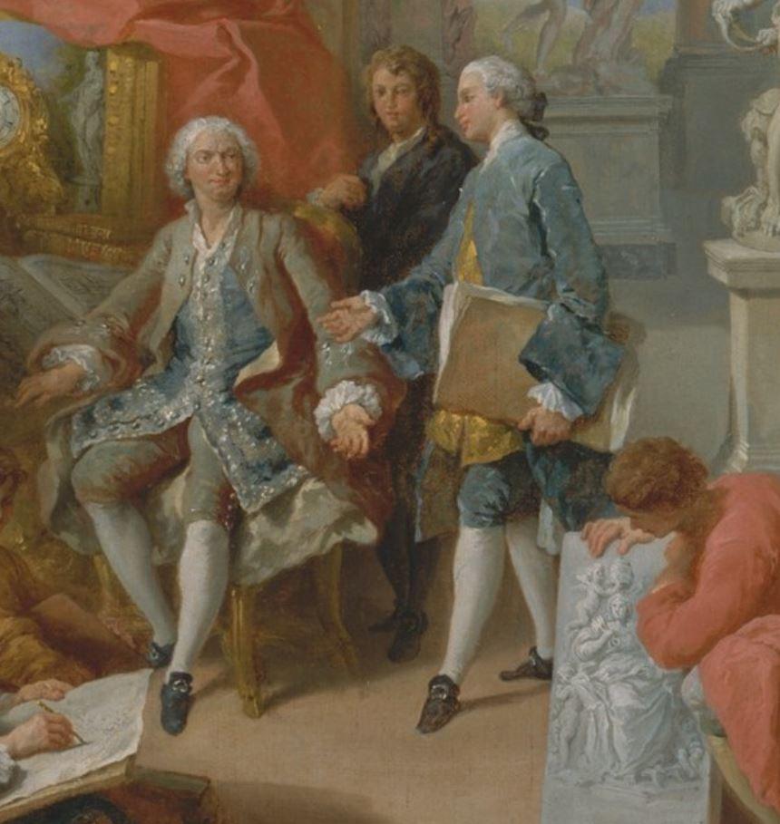 pannini V2b 1758 galerie-de-peinture-avec-vues-de-la-rome-moderne-MET New York detail